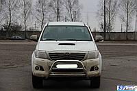 Защита переднего бампера (кенгурятник)  Toyota Hilux (2004-15)