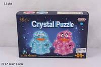 Пазлы 3D кристаллы пингвин свет.2цв.63дет.кор.27*6*18