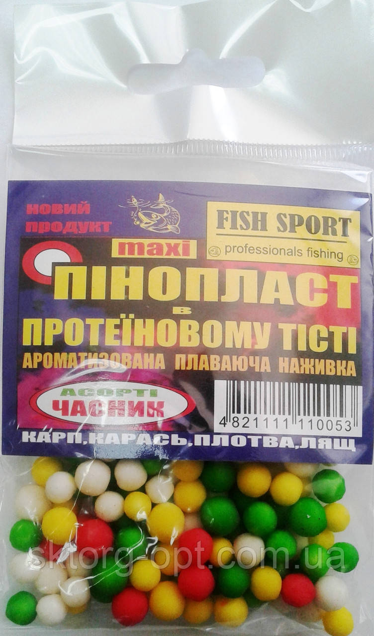 Пенопласт в тесте ассорти Fish Sport Чеснок maxi