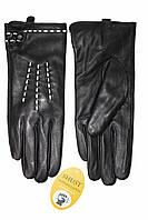 Женские кожаные черные перчатки Сенсорные Средние