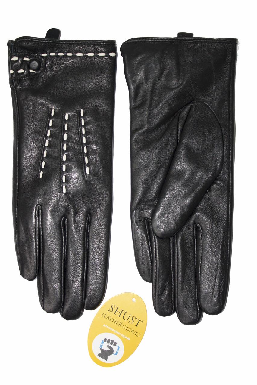 Женские кожаные черные перчатки Сенсорные Средние LYYN-1671s2