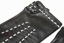 Женские кожаные черные перчатки Сенсорные Средние LYYN-1671s2, фото 2
