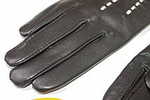Женские кожаные черные перчатки Сенсорные Средние LYYN-1671s2, фото 3