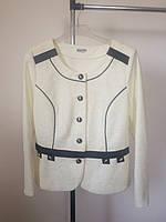 Пиджак белый с пуговицами