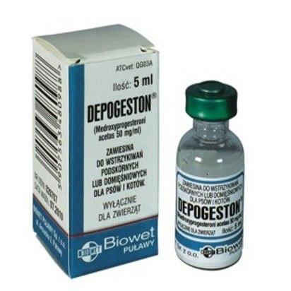 Депогестон 5 мл Biowet (Польша) гормональный препарат для предотвращения течки у кошек и сук.