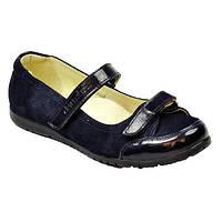 Синие замшевые туфли с лакированным носком Eleven Shoes