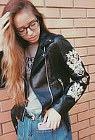 Женская стильная косуха с вышивкой (2 цвета)