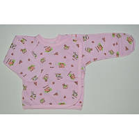 Распашонка для новорожденных нецарапка (футер) розовый