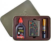 Подарочный набор 3в1 Зажигалка, бензин, мундштук (9 видов)