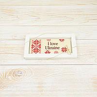 """Шоколадная открытка """" Я Люблю Украину"""" классическое сырье. Размер: 180х120х5мм, вес 90г, фото 1"""