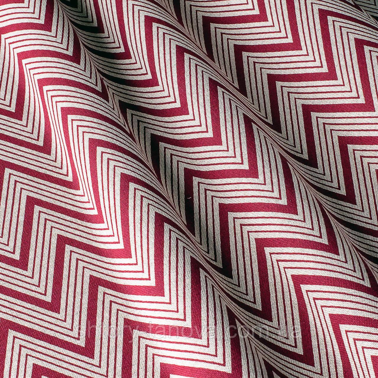 Декоративная ткань с принтом зигзаг