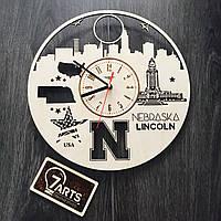 Дизайнерские часы на стену «Линкольн, Небраска»