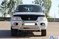 Защита переднего бампера (кенгурятник)  Mitsubishi Pajero Sport 2008+