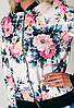 Женская летняя куртка с цветочным принтом D6690, фото 3