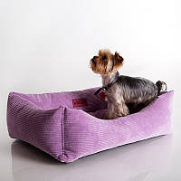 Dog Fancy Purple  - Причудливый (мягкий вельветовый лежак для собак)