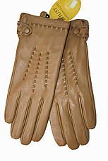 Женские кожаные Коричневые перчатки Shust Большие LYYN-1672s3, фото 3