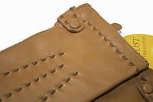 Женские кожаные Коричневые перчатки Shust Средние LYYN-1672s2, фото 2