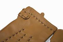Женские кожаные Коричневые перчатки Shust Большие LYYN-1672s3, фото 2