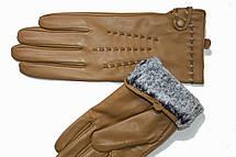 Женские кожаные Коричневые перчатки Shust Средние LYYN-1672s2, фото 3