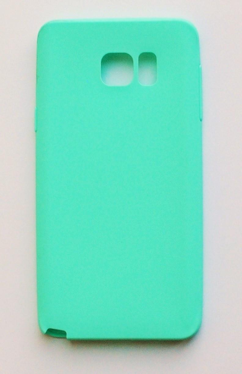 Чехол на Самсунг Galaxy Note 5 N920 Melody Силикон 0.5 мм Ментоловый