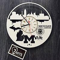 Дизайнерские часы на стену «Лансинг, Мичиган»