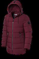 Мужской бордовый зимний пуховик (р. 48-56) арт. 8813В