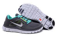 Кроссовки Nike Free Run 3 Anthracite Platinum New Green Reflect Silver, фото 1