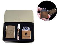 """USB зажигалка электроимпульсная бензиновая в подарочной коробке + мундштук """"Курительная трубка"""" (5 видов)"""