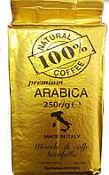 """Кава мелена ТМ """"100% КАВА"""" Premium   250 г"""