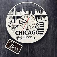 Дизайнерские часы на стену «Чикаго, Иллинойс»