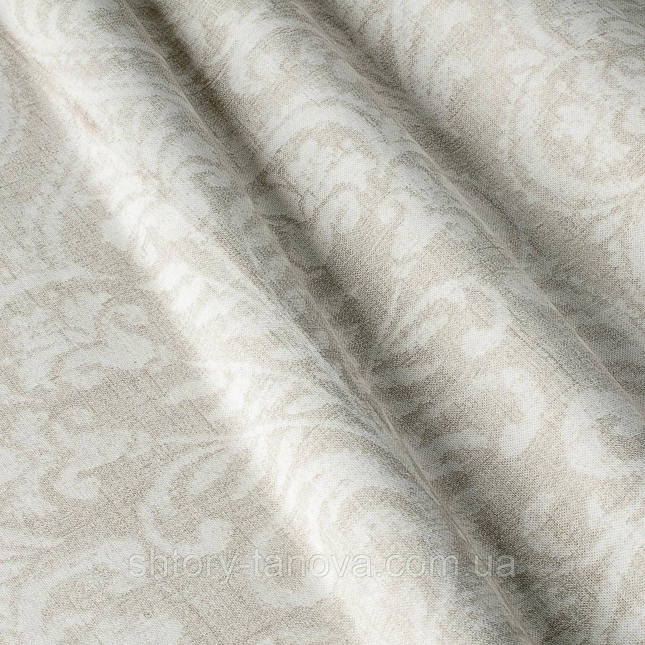 Декоративная ткань с принтом вензель