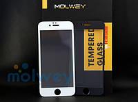 """Закаленное защитное стекло 3D Molwey для Apple iPhone 6/6s (4.7"""") на весь экран"""