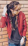 Женская мега стильная куртка кожанка с капюшоном (бомбер) (2 цвета), фото 3