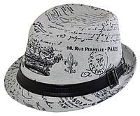 Шляпа челентанка хлястик Франция серая