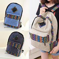 Городской рюкзак этно с узором, орнаментом, вышивкой