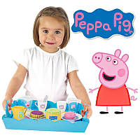Поднос с приборами посудка Свинка Пеппа Smoby 310530