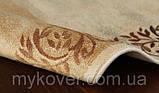 Вискозный бельгийский ковер песочного цвета, фото 3