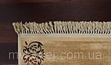 Вискозный бельгийский ковер песочного цвета, фото 4