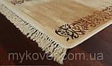 Вискозный бельгийский ковер песочного цвета, фото 5