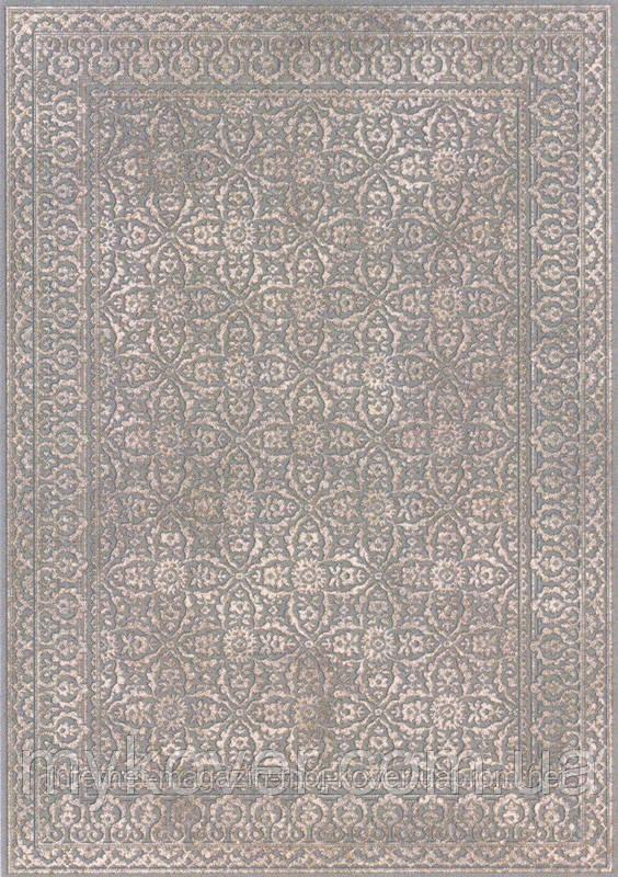 Бельгийский ковер из натуральной вискозы серо песочного цвета