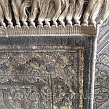 Бельгійський килим з натуральної віскози сіро пісочного кольору, фото 3