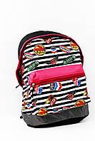 Рюкзак школьный Denfee, в черно-белую полоску, 60х40см., 4602