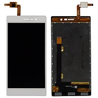Оригинальный дисплей (модуль) + тачскрин (сенсор) для Doogee Turbo 2 DG900 (белый цвет)