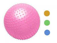 Мяч с рожками( с шипами) 65 см., 4 цвета, в п/э /50/