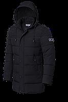 Мужская черная длинная куртка (р. 48-56) арт. 8811А