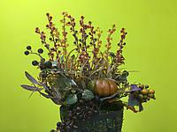 Искусственные цветы (корзина)