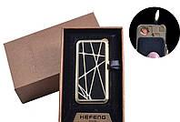 USB зажигалка газовая в подарочной упаковке (4 вида)