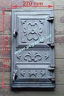 Дверка печная чугунная (двойная) (270х490 мм), фото 1