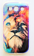 Чехол на Самсунг Galaxy S3 i9300 приятный Силикон Глянцевый Лев