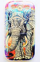 Чехол на Самсунг Galaxy S3 i9300 приятный Силикон Глянцевый Слон, фото 1